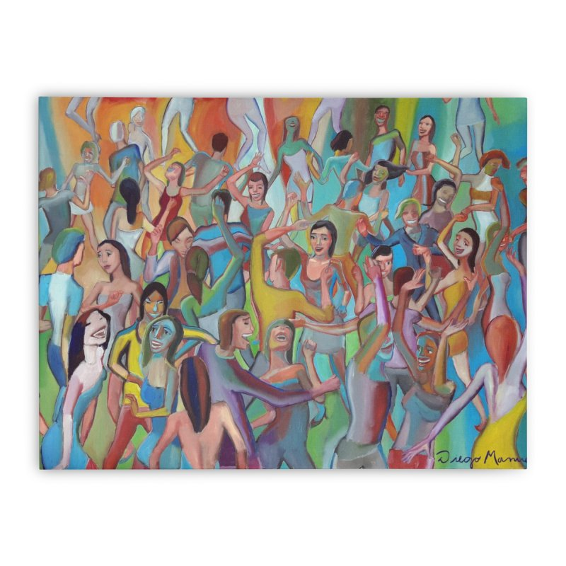 The dance 7 Home Stretched Canvas by Diego Manuel Rodriguez Artist Shop