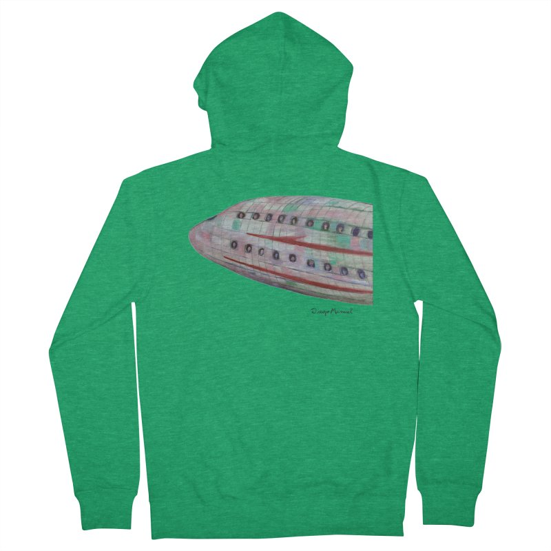 The plane 3 Women's Zip-Up Hoody by Diego Manuel Rodriguez Artist Shop