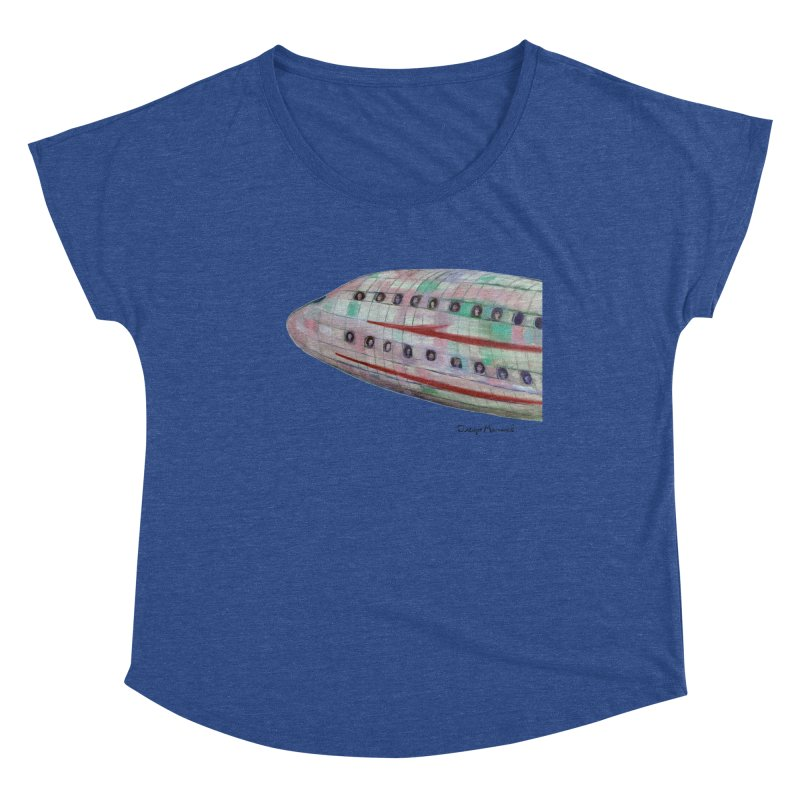 The plane 3 Women's Scoop Neck by Diego Manuel Rodriguez Artist Shop