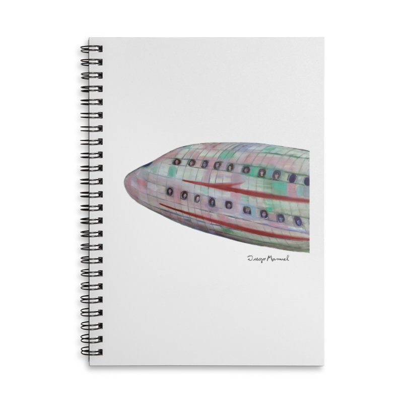 The plane 3 Accessories Lined Spiral Notebook by diegomanuel's Artist Shop
