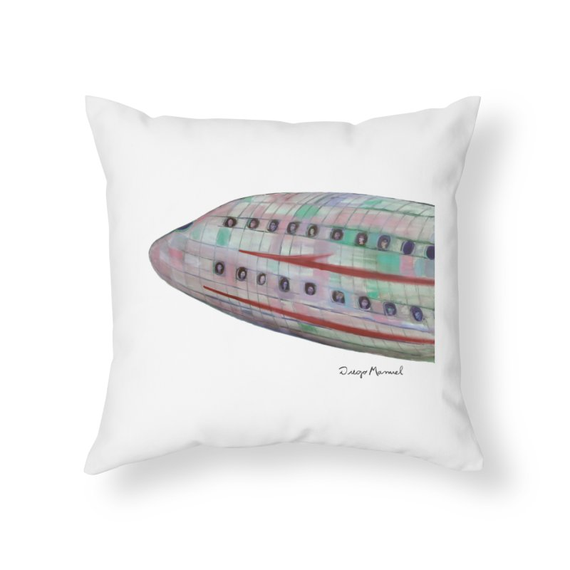 The plane 3 Home Throw Pillow by diegomanuel's Artist Shop