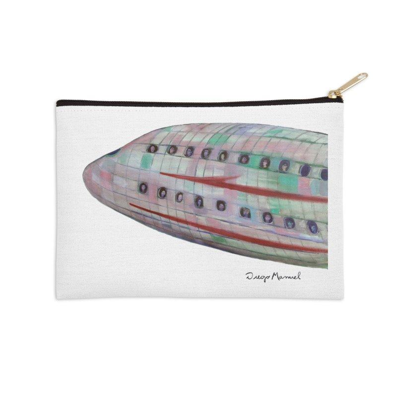 The plane 3 Accessories Zip Pouch by diegomanuel's Artist Shop
