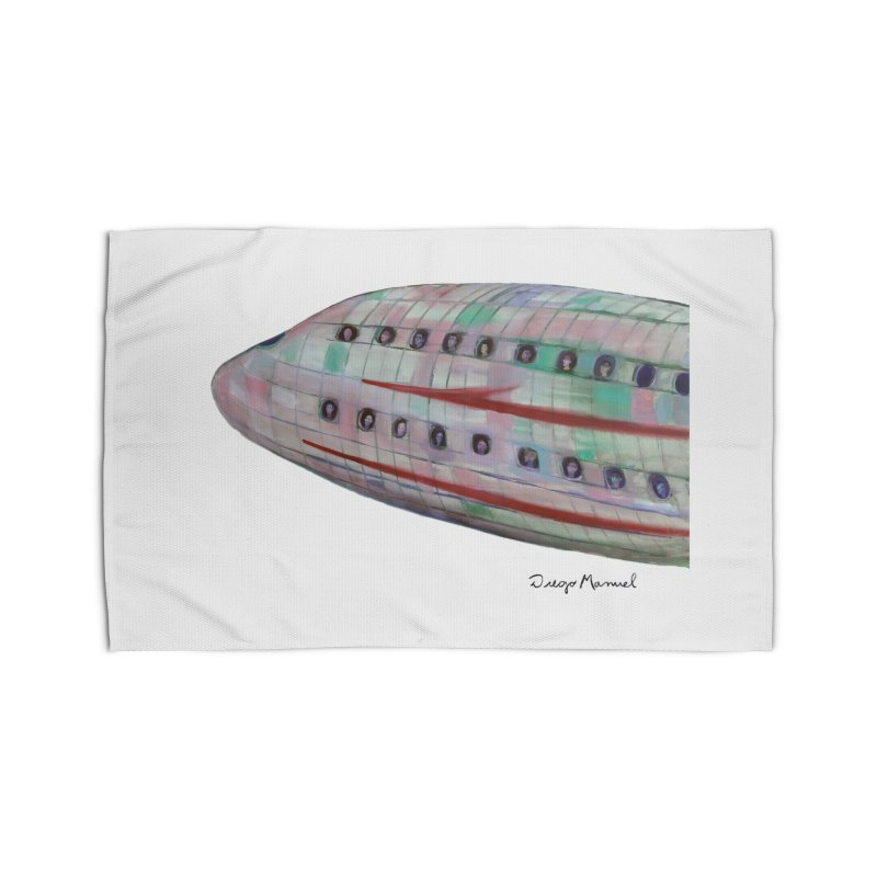 The plane 3 Home Rug by Diego Manuel Rodriguez Artist Shop