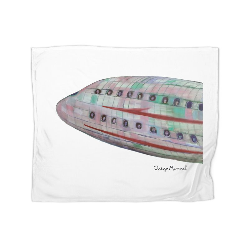 The plane 3 Home Blanket by Diego Manuel Rodriguez Artist Shop