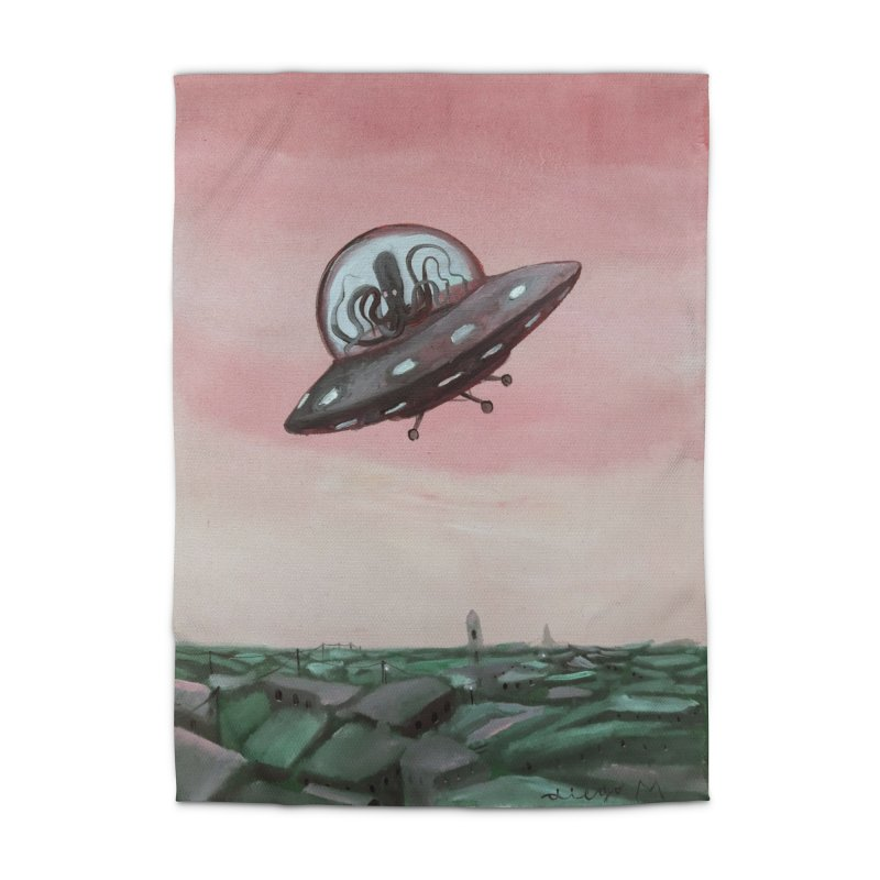 Extraterrestrial visit Home Rug by Diego Manuel Rodriguez Artist Shop