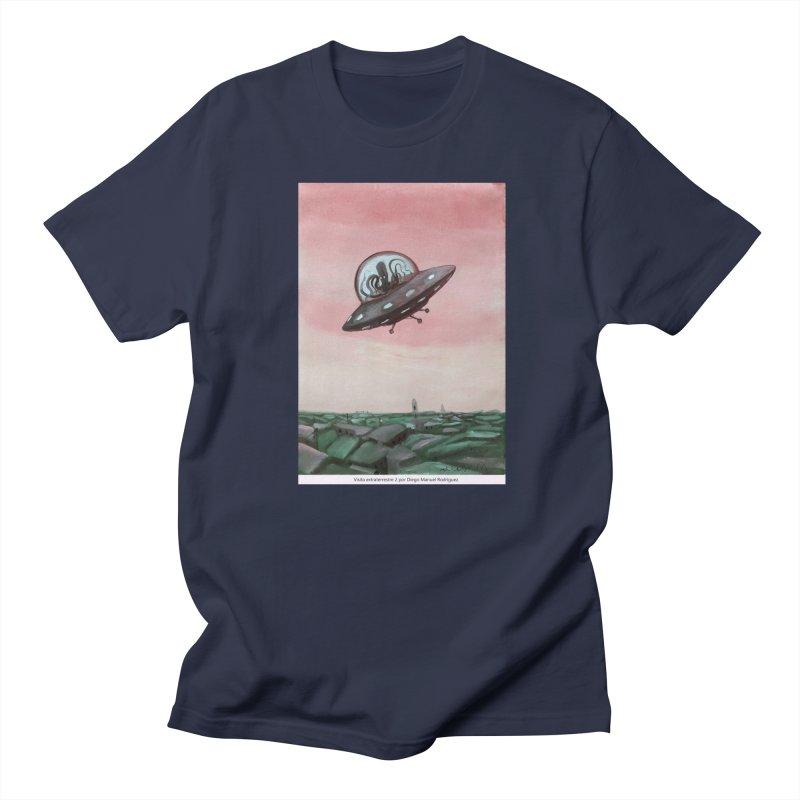 Extraterrestrial visit Men's T-Shirt by Diego Manuel Rodriguez Artist Shop