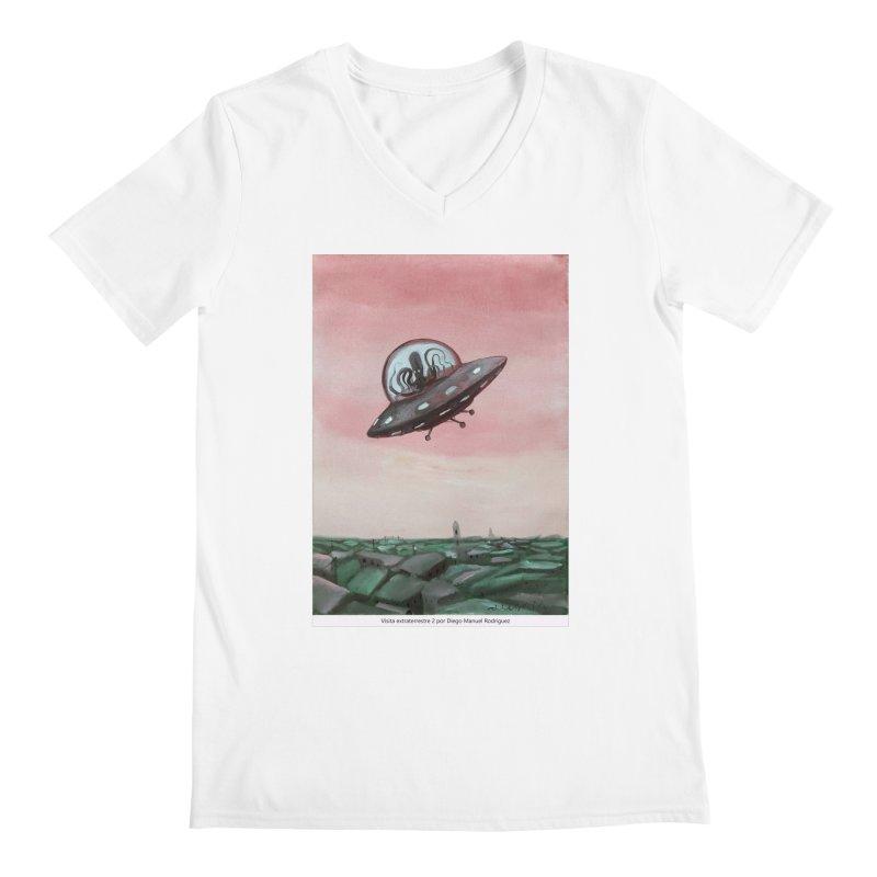 Extraterrestrial visit Men's V-Neck by Diego Manuel Rodriguez Artist Shop