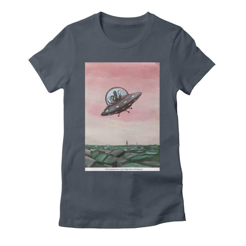 Extraterrestrial visit Women's T-Shirt by Diego Manuel Rodriguez Artist Shop