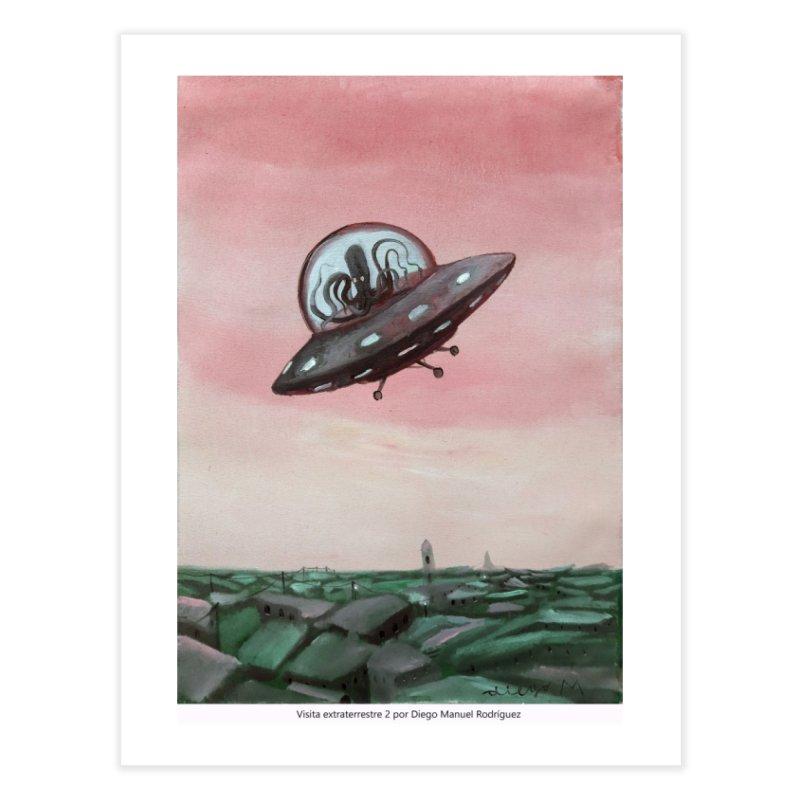 Extraterrestrial visit Home Fine Art Print by Diego Manuel Rodriguez Artist Shop