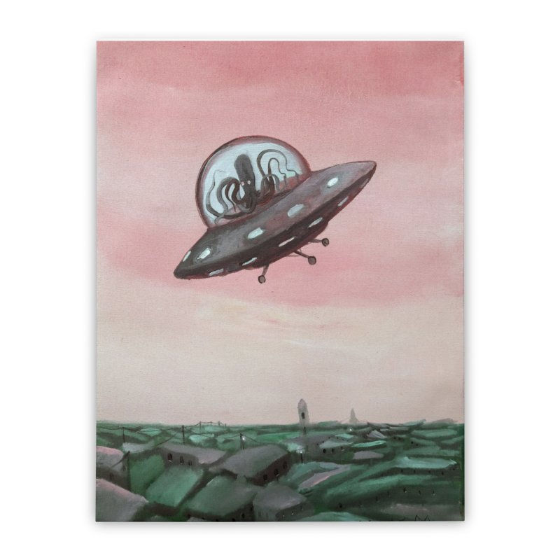 Extraterrestrial visit Home Stretched Canvas by Diego Manuel Rodriguez Artist Shop