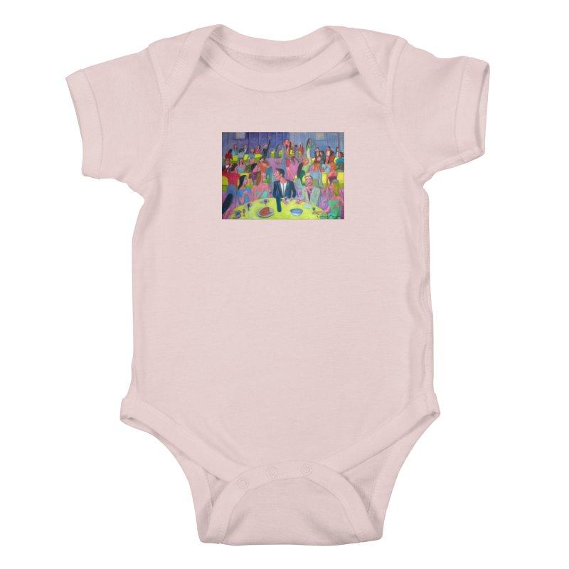 Social meeting 10 Kids Baby Bodysuit by Diego Manuel Rodriguez Artist Shop