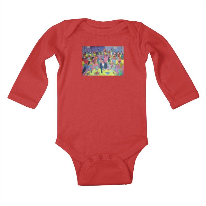 Social meeting 10 Kids Baby Longsleeve Bodysuit by Diego Manuel Rodriguez Artist Shop