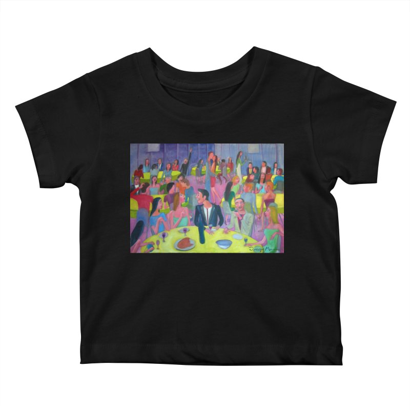 Social meeting 10 Kids Baby T-Shirt by Diego Manuel Rodriguez Artist Shop