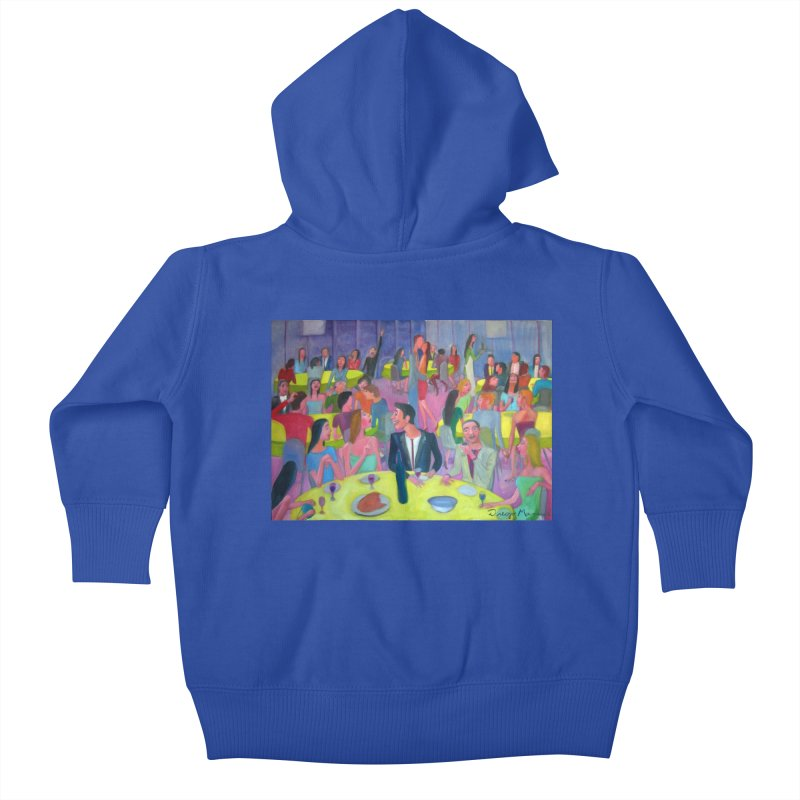 Social meeting 10 Kids Baby Zip-Up Hoody by Diego Manuel Rodriguez Artist Shop