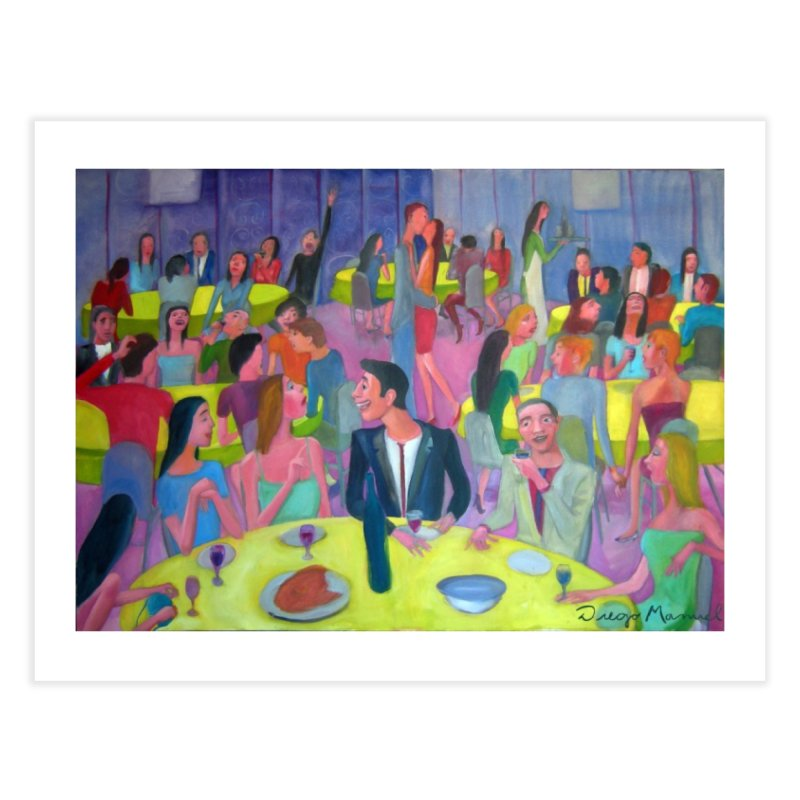 Social meeting 10 Home Fine Art Print by Diego Manuel Rodriguez Artist Shop