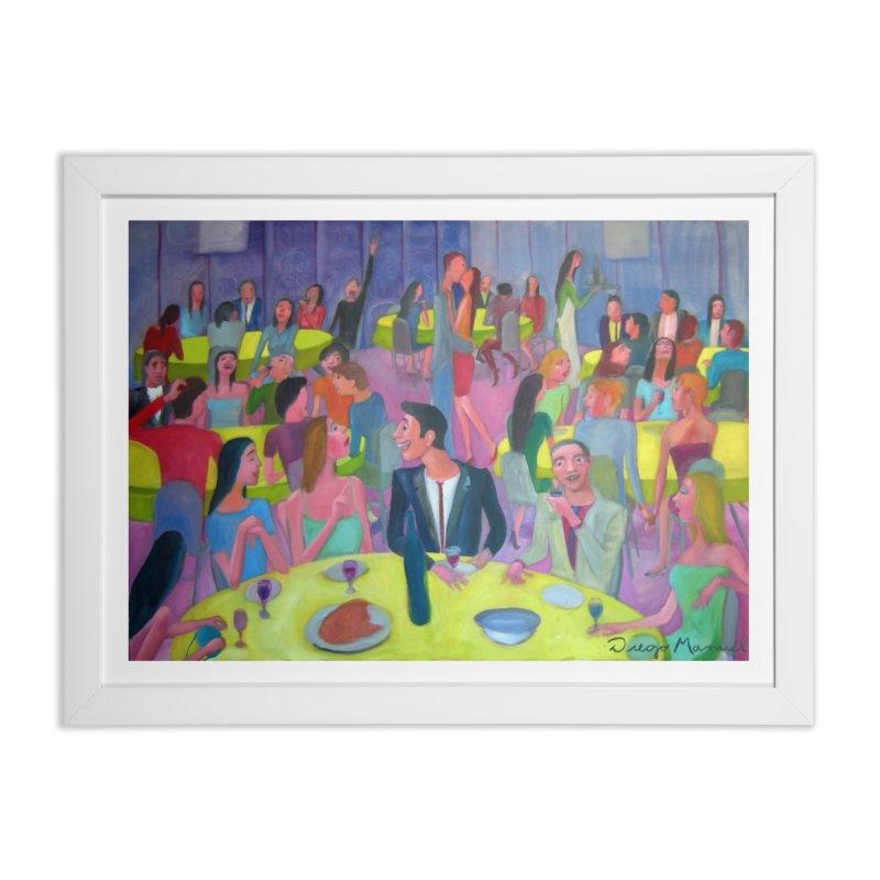 Social meeting 10 Home Framed Fine Art Print by Diego Manuel Rodriguez Artist Shop