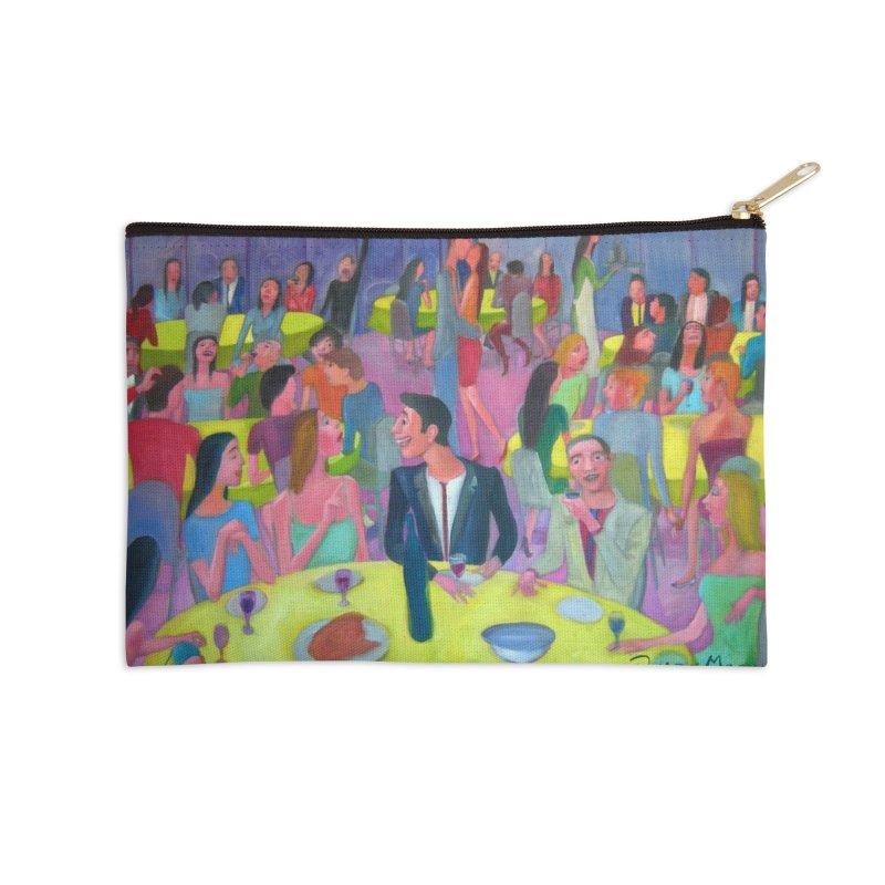Social meeting 10 Accessories Zip Pouch by diegomanuel's Artist Shop
