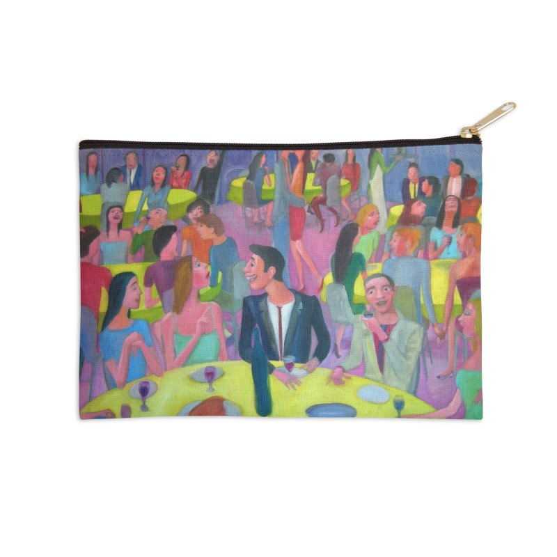 Social meeting 10 Accessories Zip Pouch by Diego Manuel Rodriguez Artist Shop