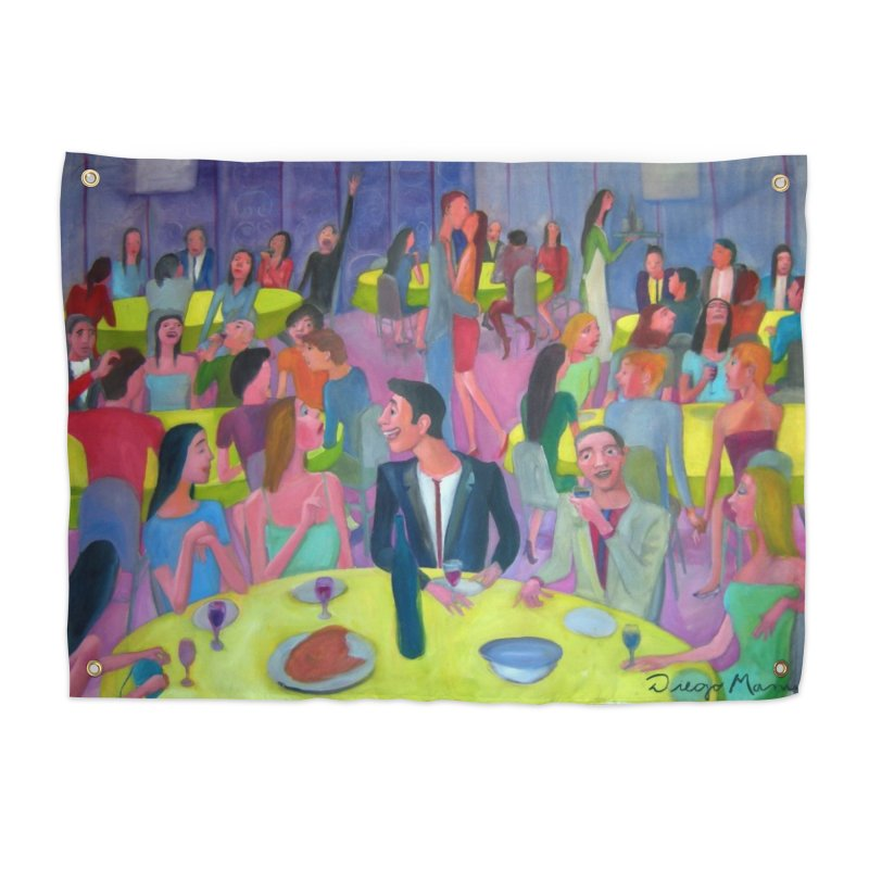 Social meeting 10 Home Tapestry by Diego Manuel Rodriguez Artist Shop