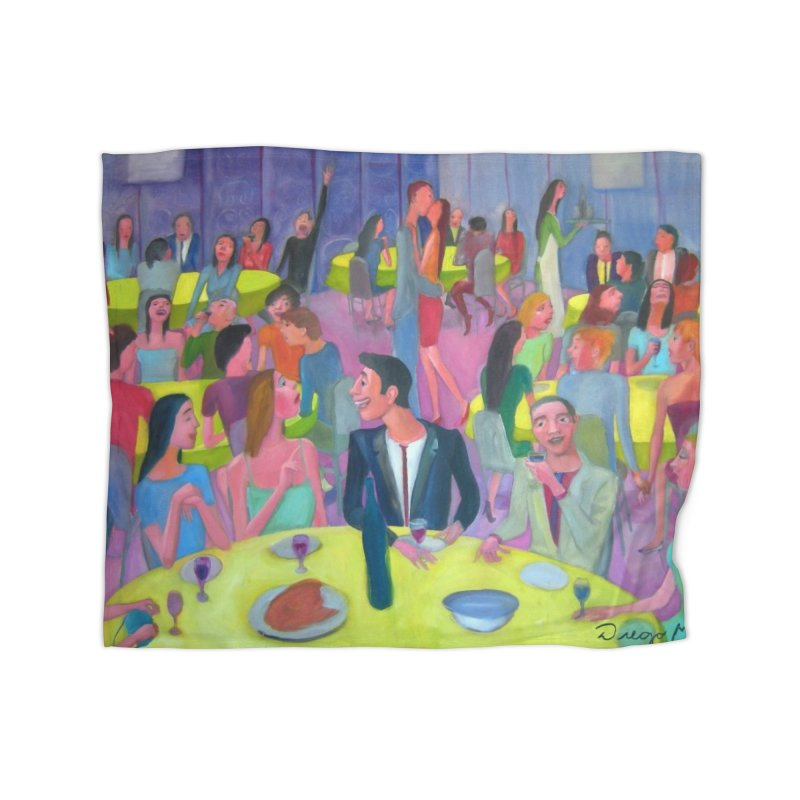 Social meeting 10 Home Fleece Blanket Blanket by diegomanuel's Artist Shop