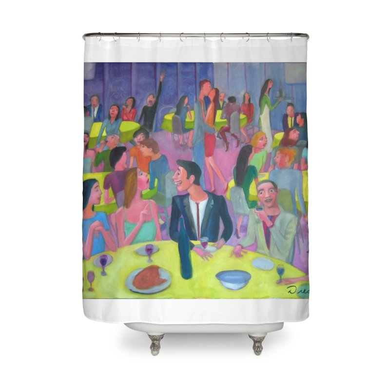 Social meeting 10 Home Shower Curtain by diegomanuel's Artist Shop
