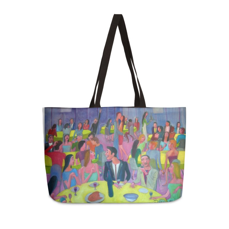 Social meeting 10 Accessories Weekender Bag Bag by diegomanuel's Artist Shop