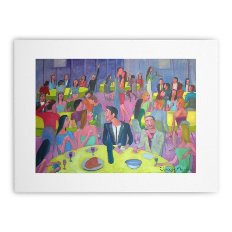 Social meeting 10 Home Stretched Canvas by Diego Manuel Rodriguez Artist Shop