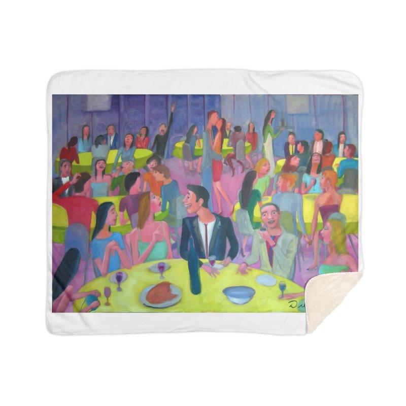 Social meeting 10 Home Sherpa Blanket Blanket by diegomanuel's Artist Shop
