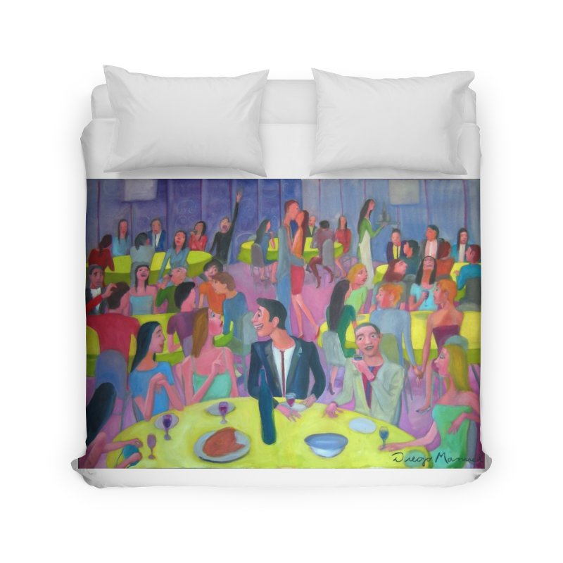 Social meeting 10 Home Duvet by diegomanuel's Artist Shop