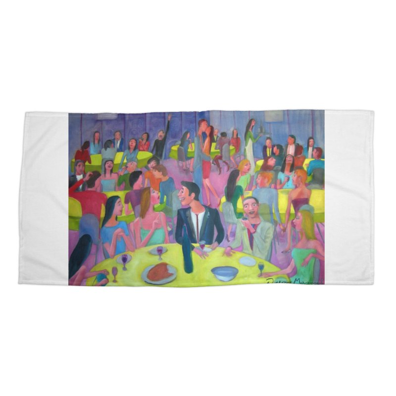 Social meeting 10 Accessories Beach Towel by diegomanuel's Artist Shop