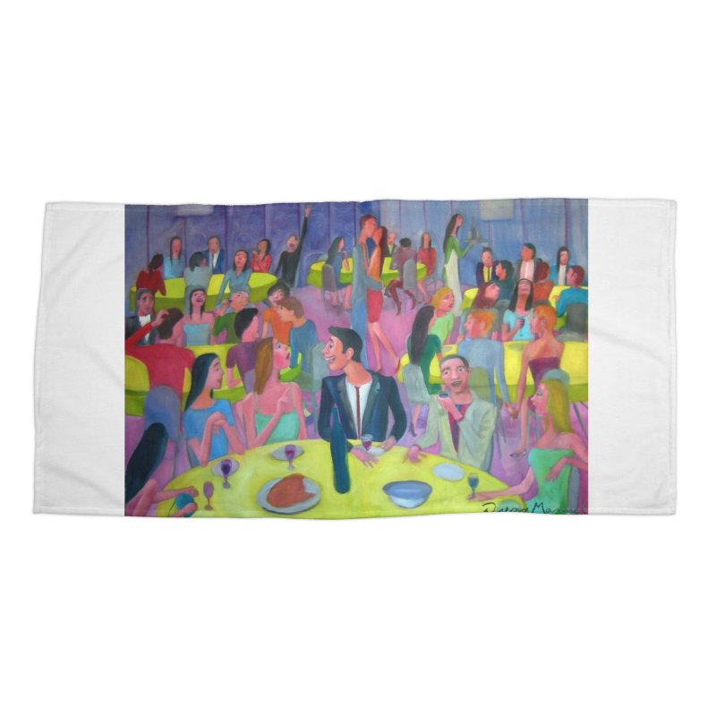 Social meeting 10 Accessories Beach Towel by Diego Manuel Rodriguez Artist Shop