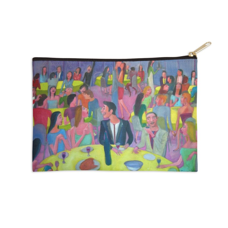 Reunion social 10 Accessories Zip Pouch by diegomanuel's Artist Shop