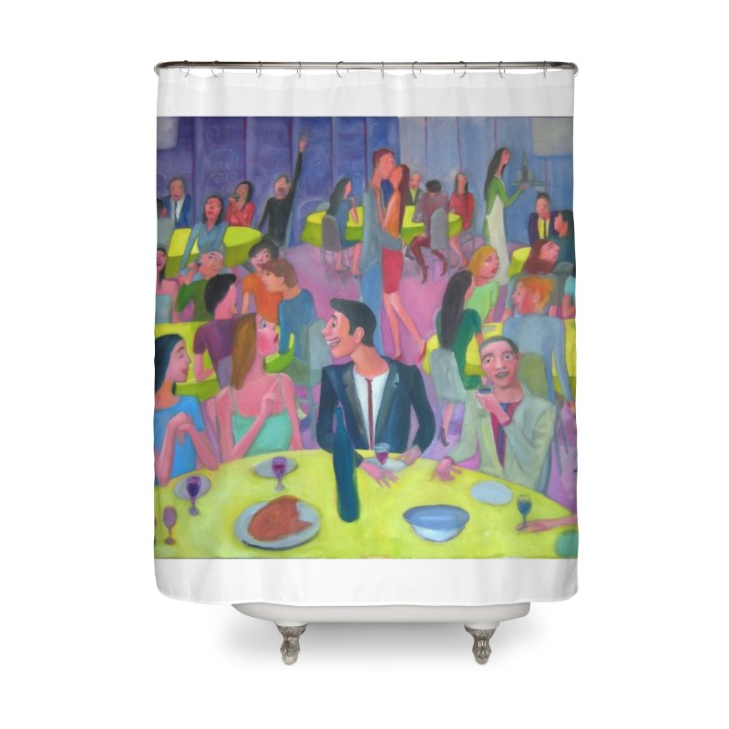 Reunion social 10 Home Shower Curtain by diegomanuel's Artist Shop