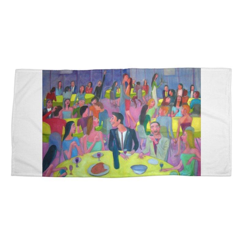 Reunion social 10 Accessories Beach Towel by diegomanuel's Artist Shop
