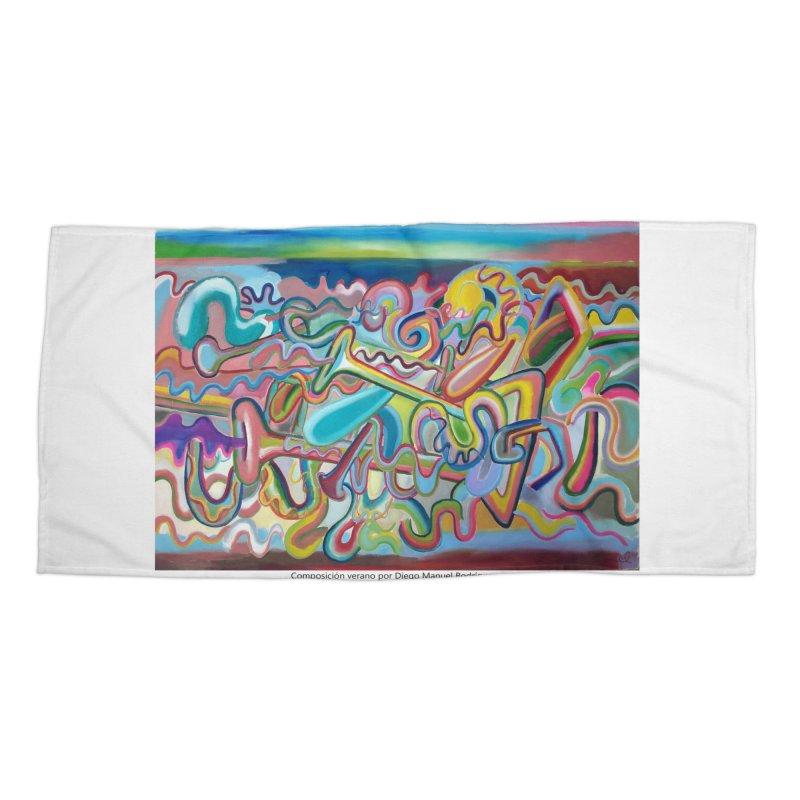 Composición verano 1 Accessories Beach Towel by diegomanuel's Artist Shop