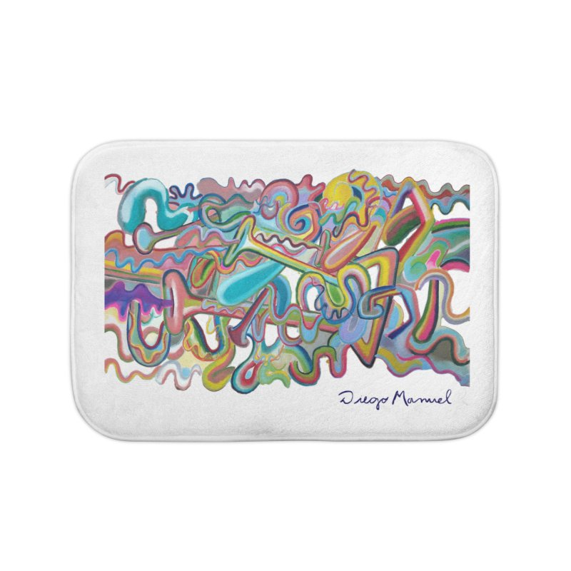 Summer composition 1 Home Bath Mat by diegomanuel's Artist Shop