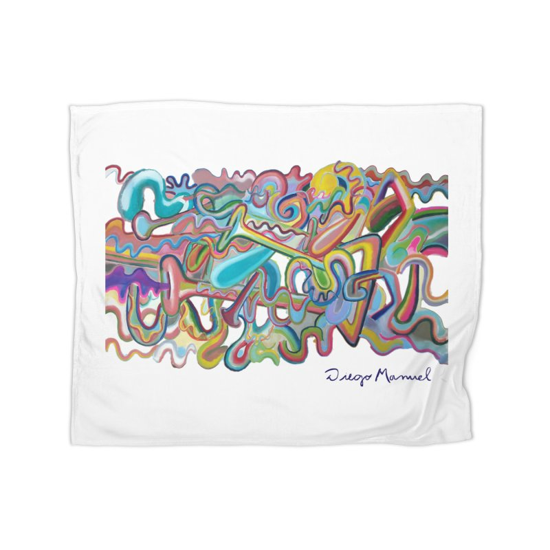 Summer composition 1 Home Fleece Blanket Blanket by diegomanuel's Artist Shop
