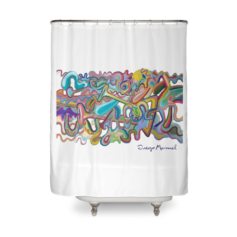 Summer composition 1 Home Shower Curtain by Diego Manuel Rodriguez Artist Shop