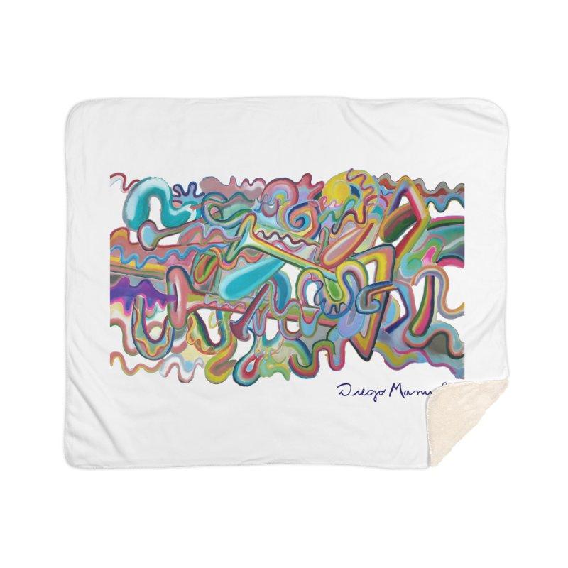 Summer composition 1 Home Sherpa Blanket Blanket by diegomanuel's Artist Shop