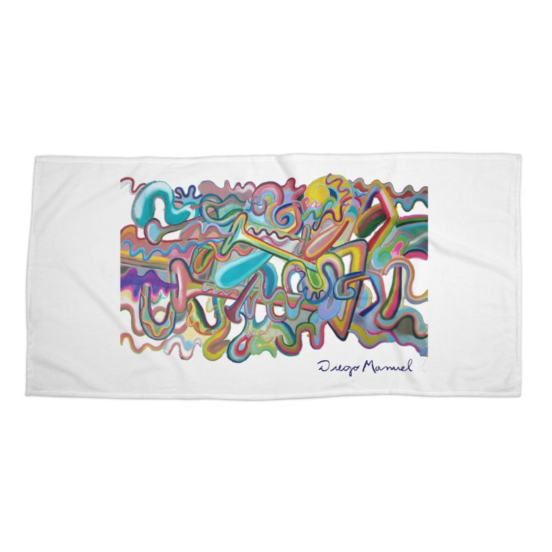 Summer composition 1 Accessories Beach Towel by Diego Manuel Rodriguez Artist Shop