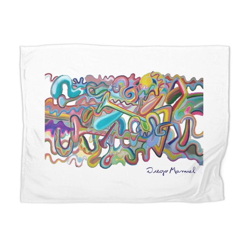 Summer composition 1 Home Blanket by Diego Manuel Rodriguez Artist Shop