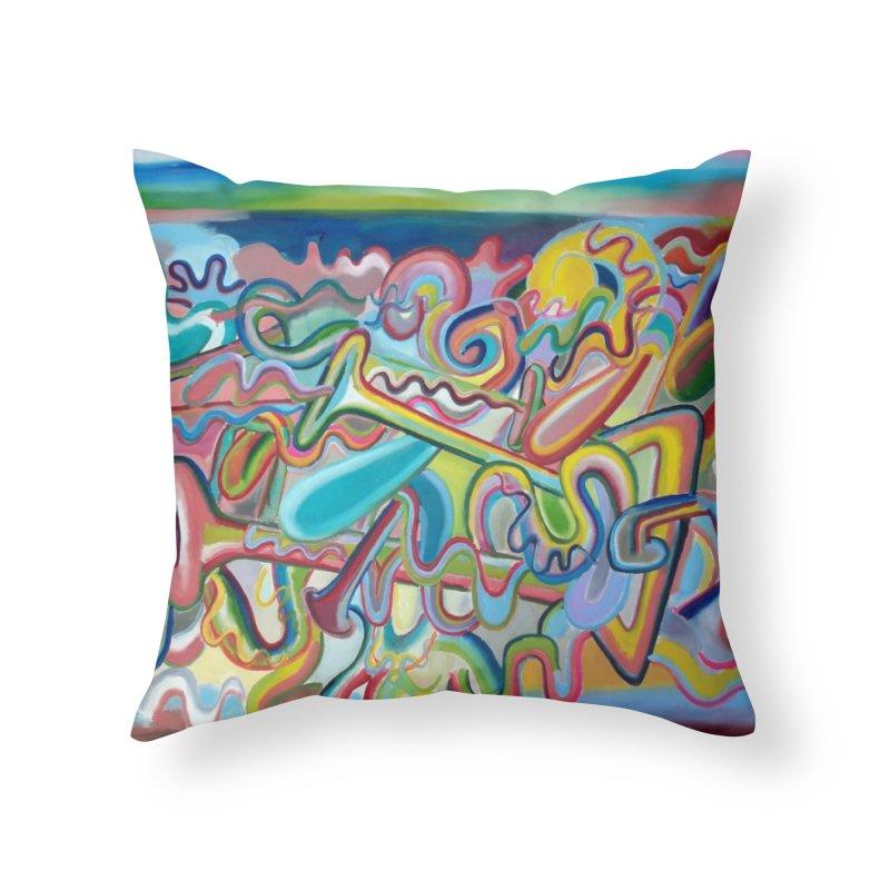 Composición verano 1 Home Throw Pillow by diegomanuel's Artist Shop
