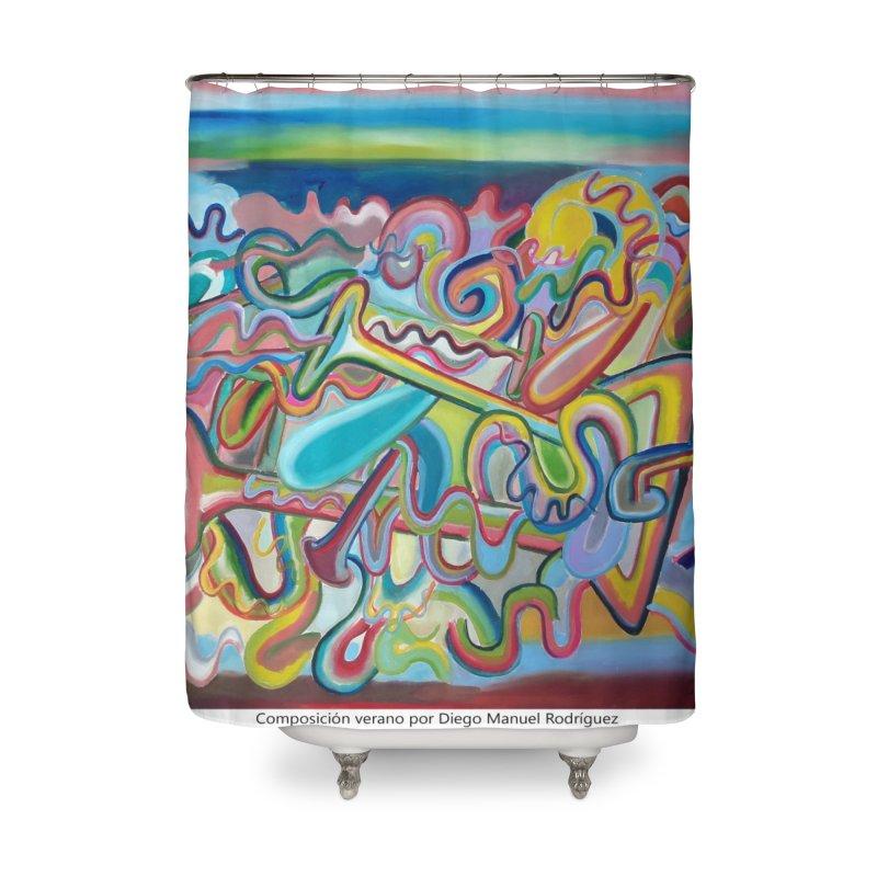 Composición verano 1 Home Shower Curtain by diegomanuel's Artist Shop
