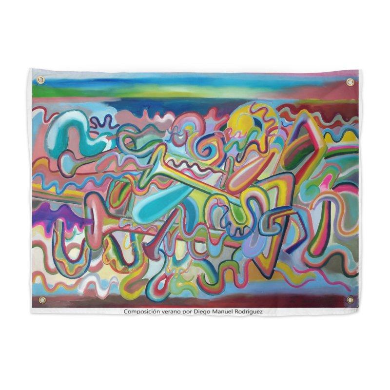 Composición verano 1 Home Tapestry by diegomanuel's Artist Shop