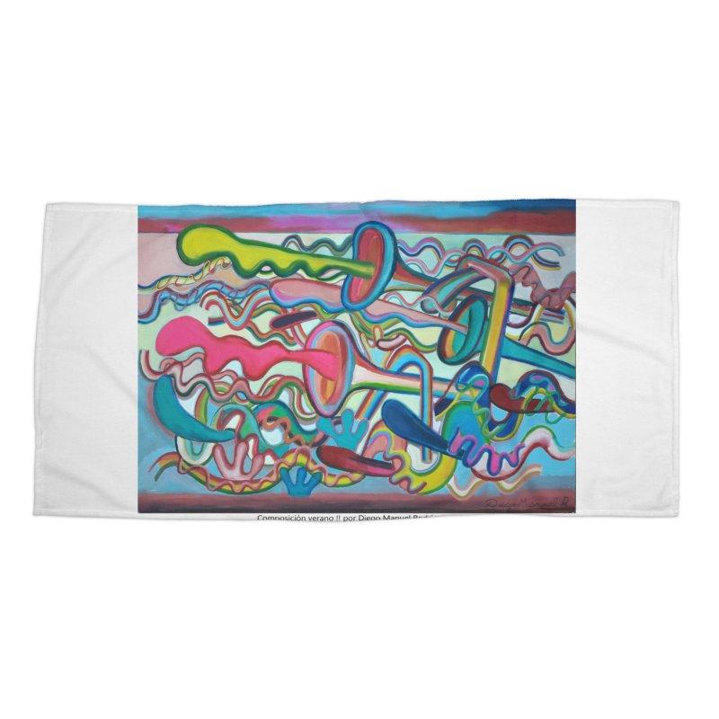 Composición verano 2 Accessories Beach Towel by diegomanuel's Artist Shop