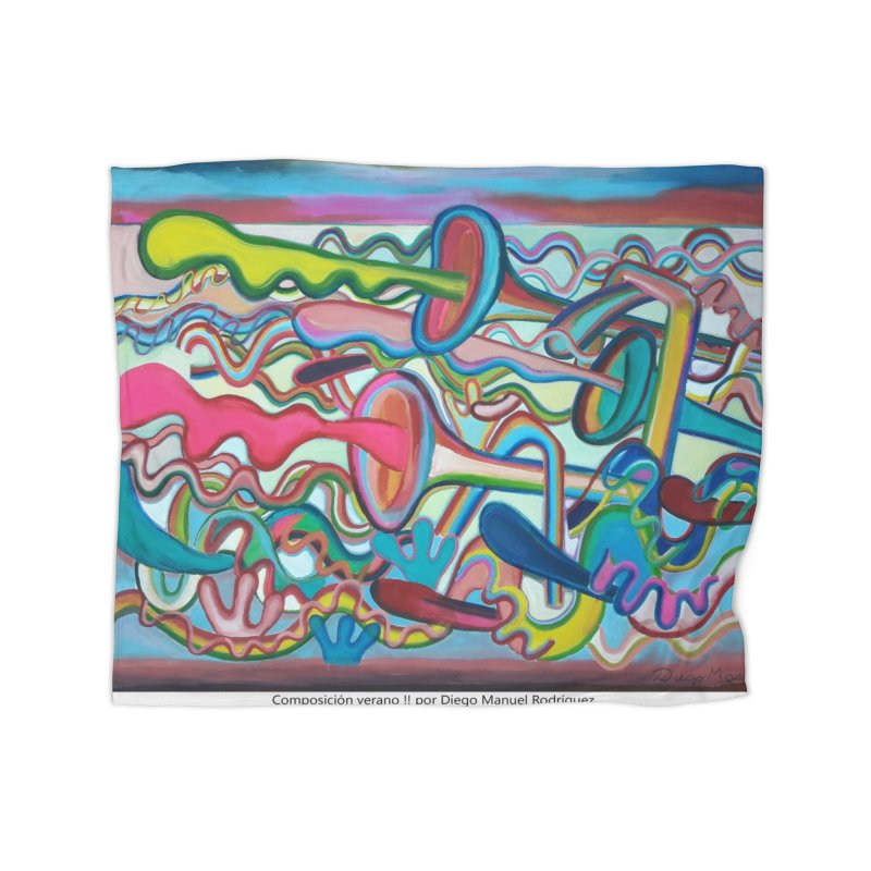 Composición verano 2 Home Blanket by diegomanuel's Artist Shop