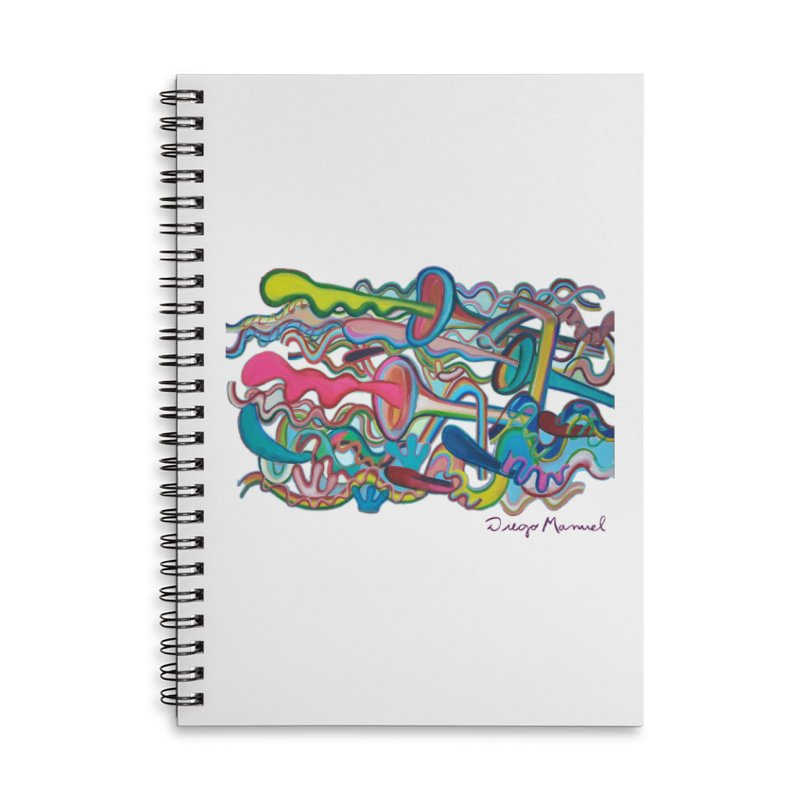 Summer composition 2 Accessories Lined Spiral Notebook by diegomanuel's Artist Shop