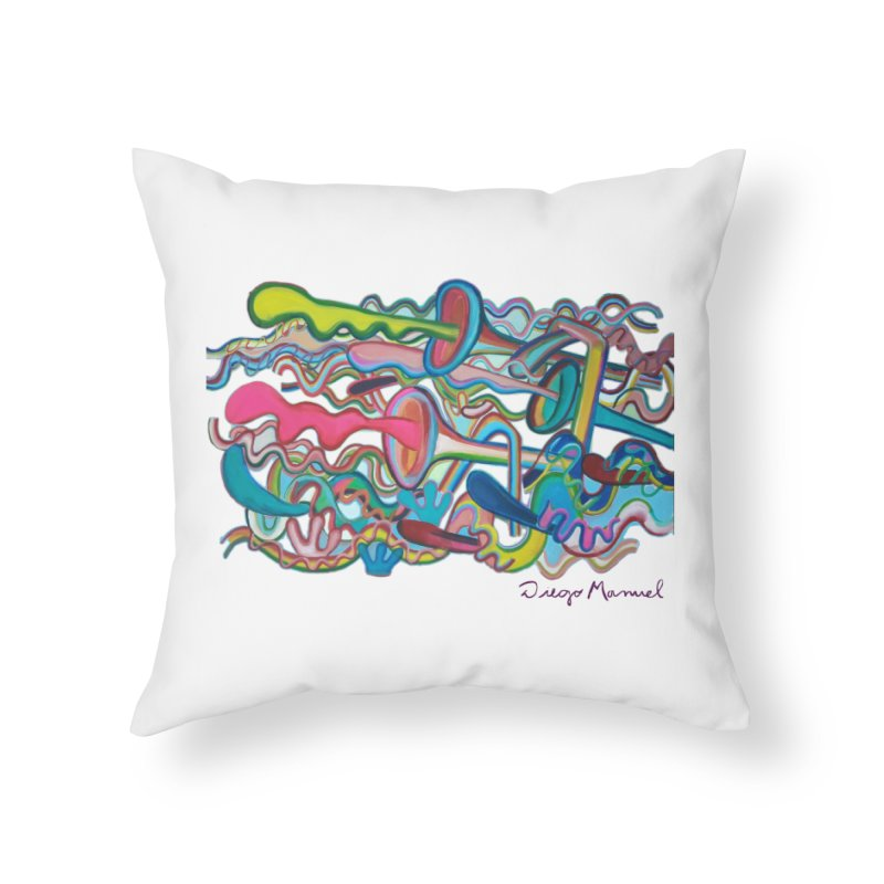 Summer composition 2 Home Throw Pillow by diegomanuel's Artist Shop
