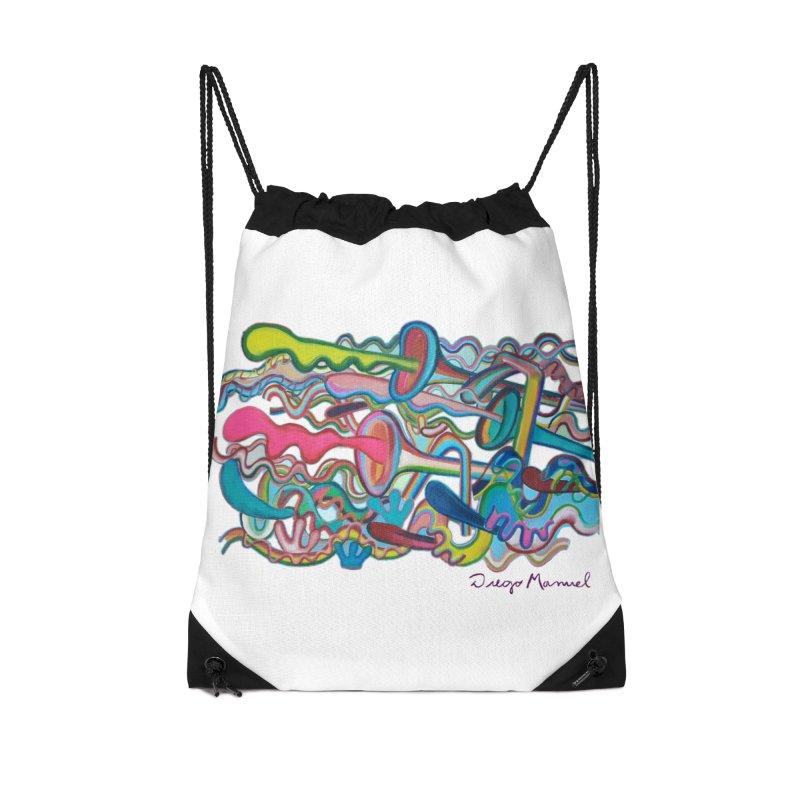 Summer composition 2 Accessories Drawstring Bag Bag by diegomanuel's Artist Shop