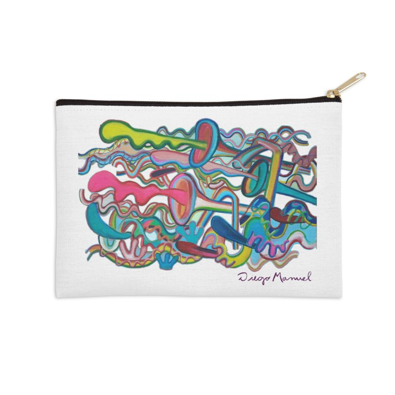 Summer composition 2 Accessories Zip Pouch by Diego Manuel Rodriguez Artist Shop